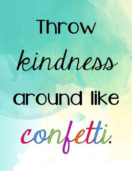 Positive Growth Mindset and Kindness Posters