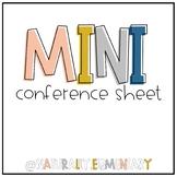 Positive Mini Conference Sheets (EDITABLE)