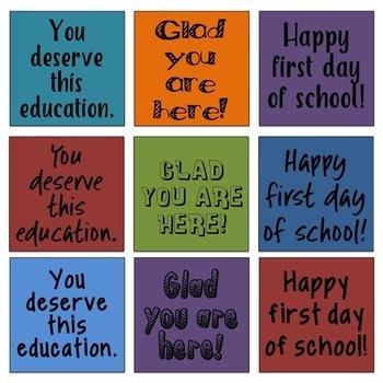 Back to School Mirror Tags: School Culture, Self-Esteem, Random Acts of Kindness