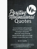 Positive Motivational Quotes Copywork Cursive Handwriting