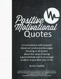 Positive Motivational Quotes Copywork Cursive Handwriting