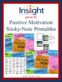 Printable Positive Motivational Sticky-Notes Template for