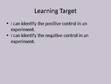 Positive & Negative Controls - Self-Paced Lesson