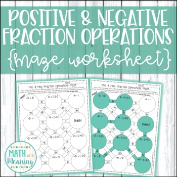 Positive & Negative Fraction & Mixed Number Operations Maz