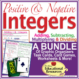Positive and Negative Integers BUNDLE - Game, Interactive