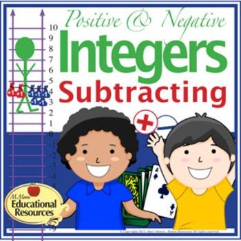 Positive and Negative Integer Subtraction - Handouts, Vert