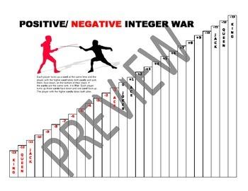 Positive & Negative Integer War