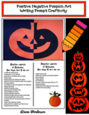 Pumpkin Craft: Positive & Negative Jack-O-Lantern Writing