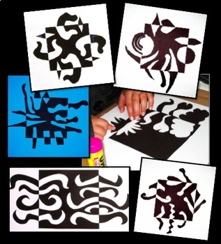 Art Lesson Notan Design Math Integrated