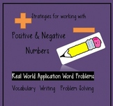 Positive & Negative Numbers: Common Core word problems, ta