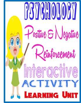 Psychology Positive & Negative Reinforcement Envelope Activity for Learning Unit