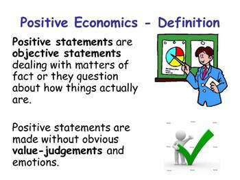 Positive & Normative Economic Statements - Economics