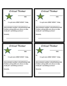 Positive Note Home: Critical Thinker