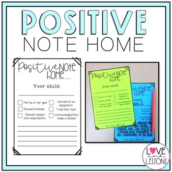 Positive Note Home (Editable)