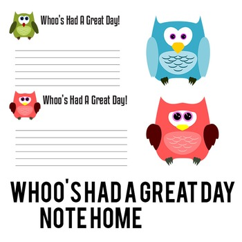 Positive Note Home - Whoo's Been GREAT TODAY