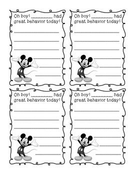 Positive Notes - Disney themed