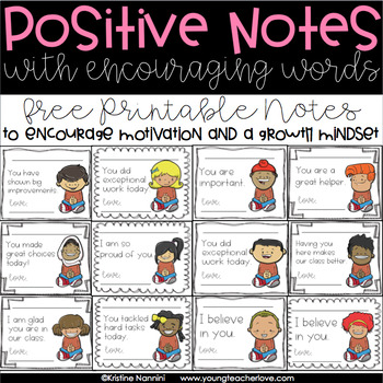 Positive Notes: Encouraging Motivation and Growth Mindset (Free Printable)