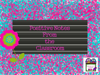 Positive Notes From the Classroom