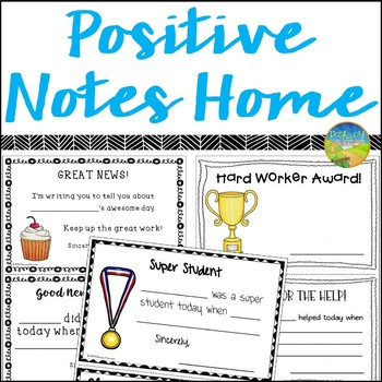 This is a photo of Remarkable Printable Positive Notes Home for Parents
