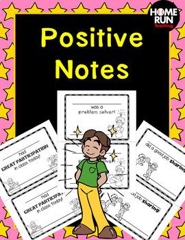 Positive  Notes Home; Brag notes
