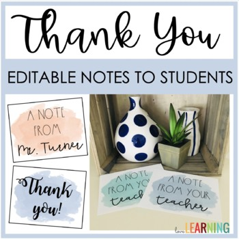 Positive Notes Home: Editable