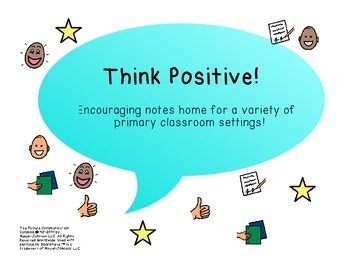 Positive Notes Home! Great for a Special Education Setting!