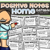 Positive Notes Home Parent Teacher Communication Editable
