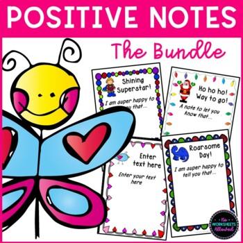 Positive Notes Home to Parents Bundle