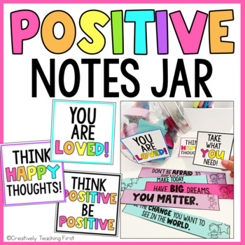 Positive Notes Jar EDITABLE