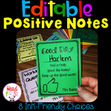 Editable Positive Notes Home to Parents and Reward Certificates