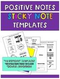 Positive Notes Sticky Notes Template