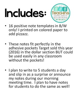 Positive Notes: Student to Student