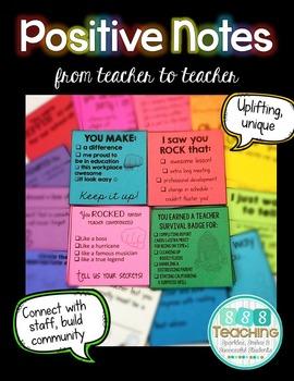 Positive Notes: Teacher to Teacher
