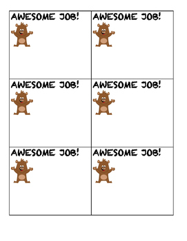 Positive Notes Template
