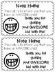 Positive Notes for Parents and Students