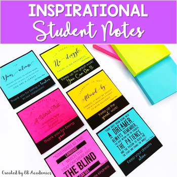 Positive Notes for Students - Middle School