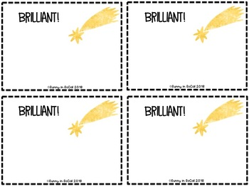 Positive Notes for Students ~ Outer Space-Themed
