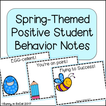 Positive Notes for Students ~ Spring Themed