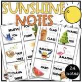 Positive Notes for Students - Sunshine Notes - Affirmations