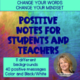 Positive Notes for Students and Teachers