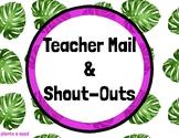 Positive Notes to Proud Parents | Teacher Mail | 5 Styles