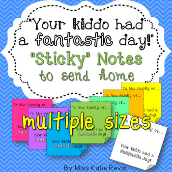 "Positive Notes to Send Home: ""Fantastic Day!"" (Brights & Black & White)"