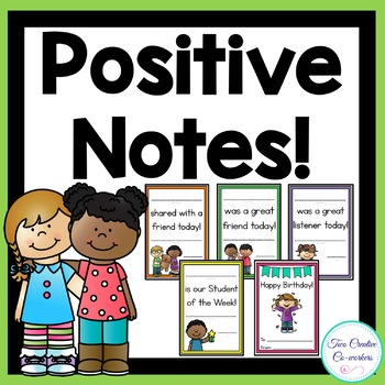 Positive Notes / Awards / Certificates Grades K-2