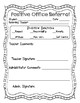 Positive Office Referral Forms