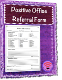 Positive Office Referral Template