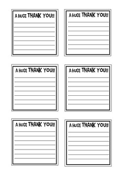 Positive Open-Ended Sticky Note Messages:A Huge Thank You