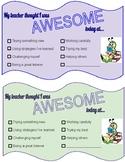 Positive Parent Communication - Reading
