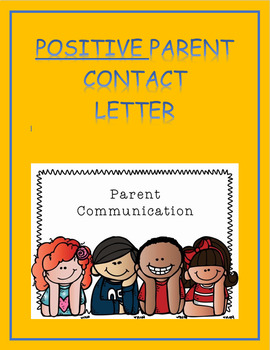 Positive Parent Contact Letter