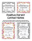 Positive Parent Contact Notes