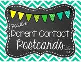 Positive Parent Contact Postcards (Chevron Chalkboard Brights)
